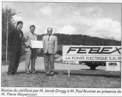 "Picture from ""Journal du Chablais"", 20.06.1995"