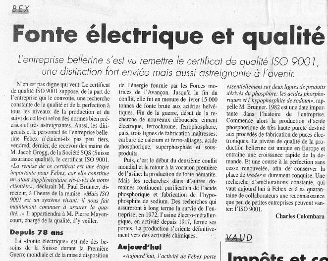 """Journal du Chablais"" dated from 20.06.1995"